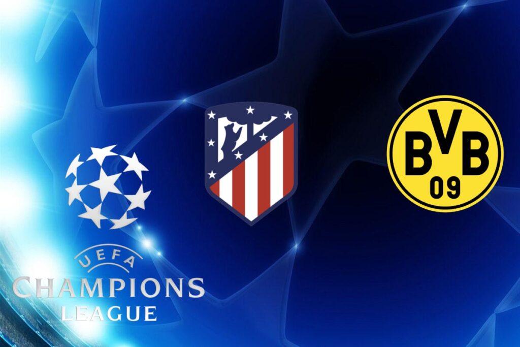 Champions League Atletico Madrid vs Borussia Dortmund